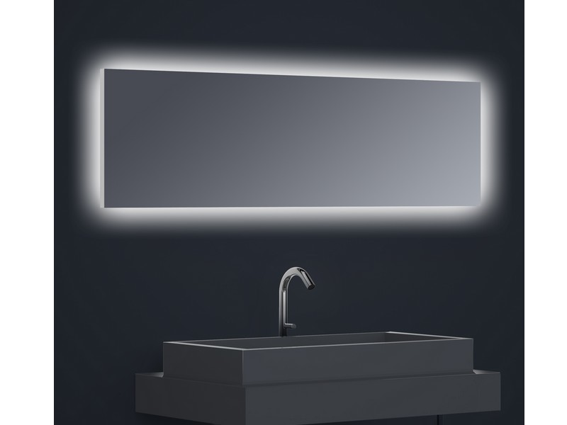 Miroir r tro clair horizontal flex led clairage invers dimensions d finir sans film for Miroir horizontal