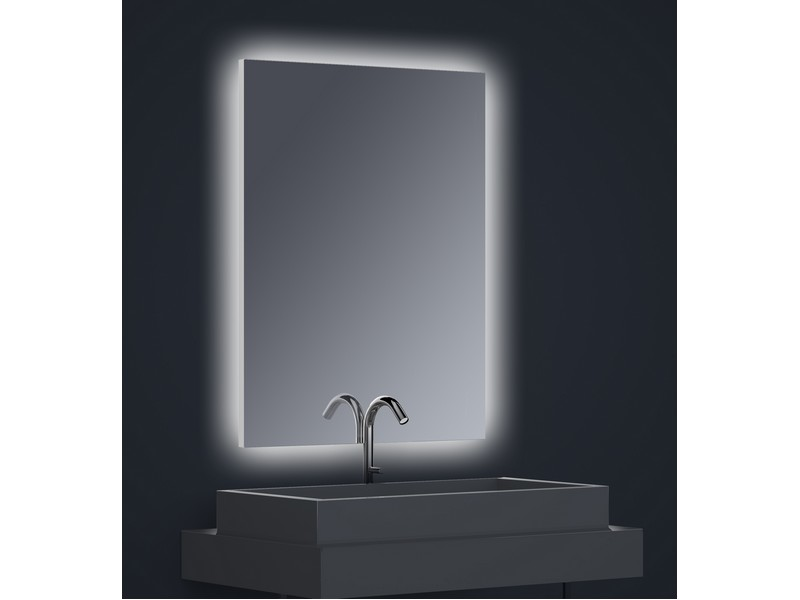 miroir r tro clair vertical flex led clairage invers dimensions d finir sans film. Black Bedroom Furniture Sets. Home Design Ideas