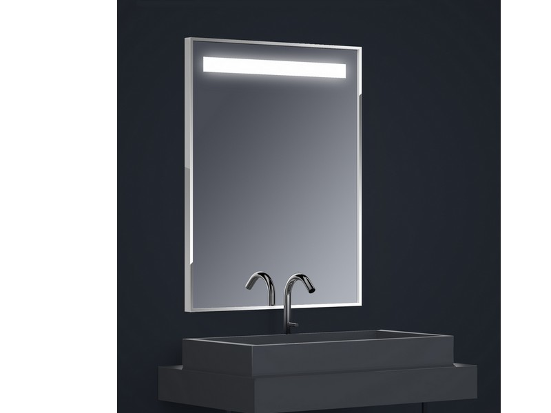 miroir r tro clair tech 39 no led one rectangle h90 x l70 x 2 cm avec film anti bu e 1 bande. Black Bedroom Furniture Sets. Home Design Ideas