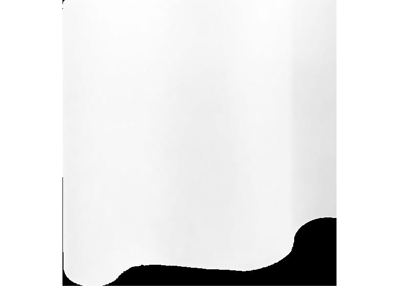 rideau de douche polyester l180xh200 cm uni blanc sans. Black Bedroom Furniture Sets. Home Design Ideas