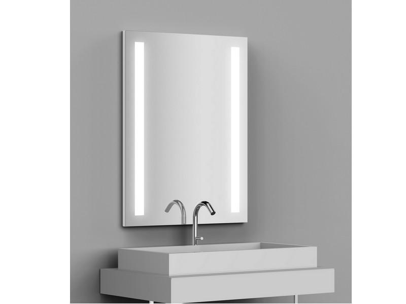 miroir r tro clair tech 39 no led dual l70 x h90 cm bandes d polies verticales en retrait. Black Bedroom Furniture Sets. Home Design Ideas