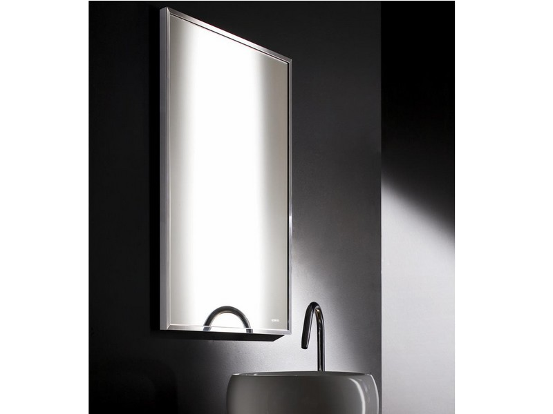 Mirror Diamond 50 X 80 Cm With Polished Stainless Steel Frame