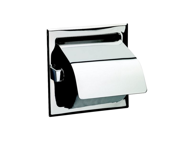 Recessed Single Toilet Roll Holder With
