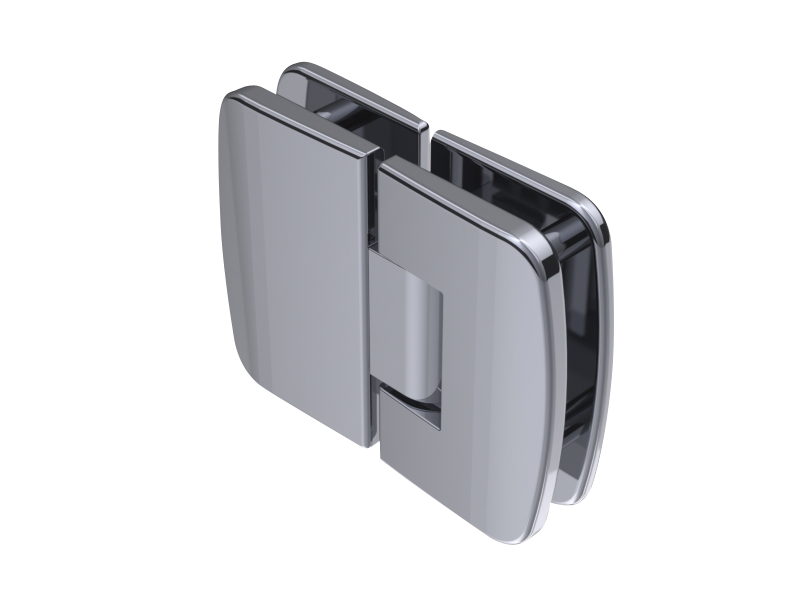 Double Vitro hinge 180° - 90° - 180° glass / glass - Haccess